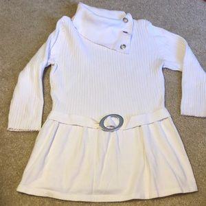 🌷white top/tunic size M